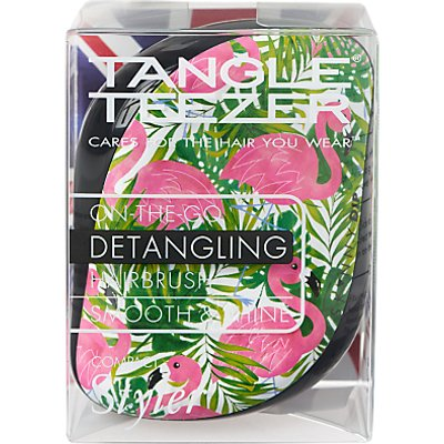Tangle Teezer Skinny Dip Palm Print Compact Styler Hair Brush, Multi