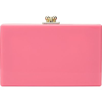 John Lewis Stormm Box Clutch Bag, Pink