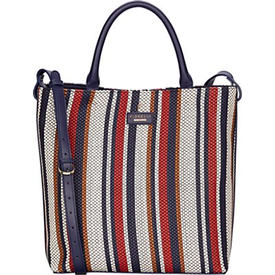 Fiorelli Mckenzie North South Tote Bag, Navy Weave