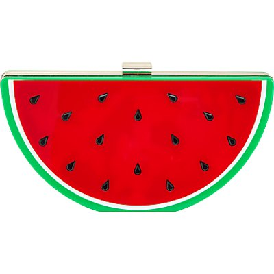 John Lewis Megs Watermelon Clutch Bag, Multi