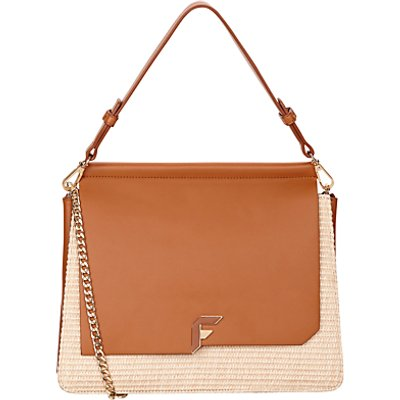Fiorelli Tilly Shoulder Bag, Tan Raffia
