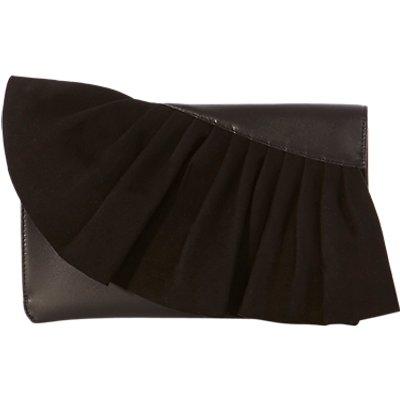 Karen Millen Ruffle Collection Clutch Bag, Black