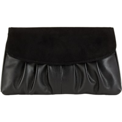 Jacques Vert Suede Clutch Bag, Black