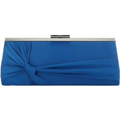 Jacques Vert Knot Detail Clutch Bag, Teal