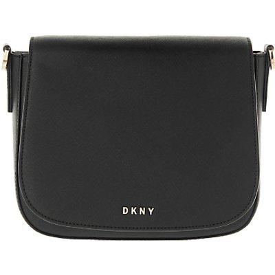 DKNY Bryant Park Saffiano Leather Across Body Strap, Black