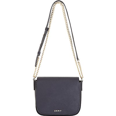 DKNY Bryant Park Saffiano Leather Small Across Body Bag, Navy