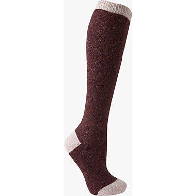 John Lewis Wool and Silk Blend Knee High Socks