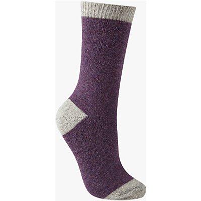 John Lewis Wool and Silk Blend Ankle Socks