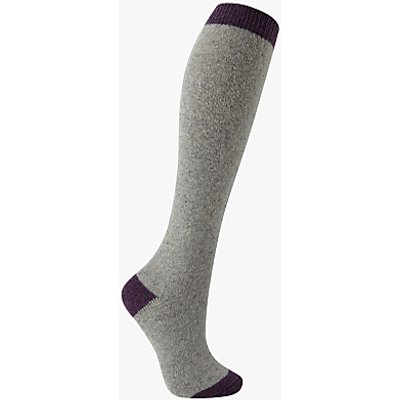 John Lewis Wool and Silk Blend Knee High Socks