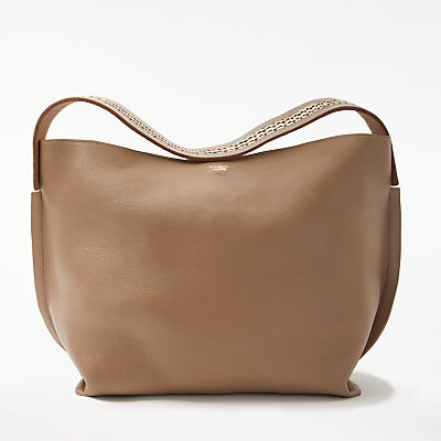 Modern Rarity Leesi Leather Shoulder Bag, Taupe