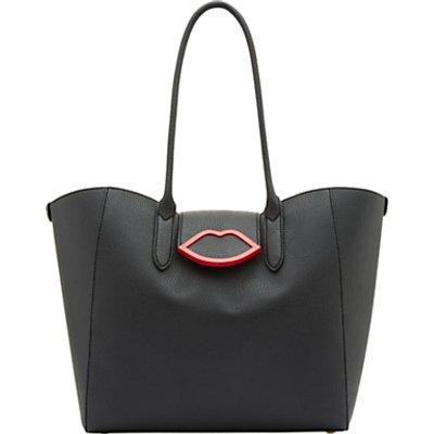 Lulu Guinness Cupid's Bow Sofia Tote Bag, Black