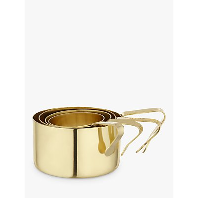 Anthropologie Brass Measuring Cups, Set of 4, Gold