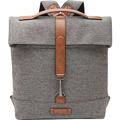 Ted Baker Germyn Canvas Roll Backpack  Grey - 5054787561730