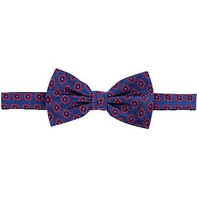 John Lewis Motif Bow Tie, Navy/Red