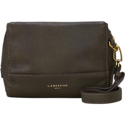 Liebeskind Syracuse Milano Leather Shoulder Bag, Olive Green