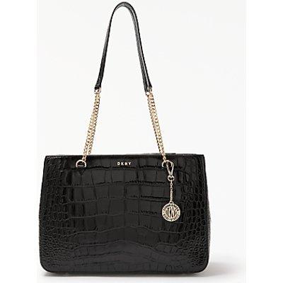 DKNY Sutton Croc Effect Leather Shopper Bag