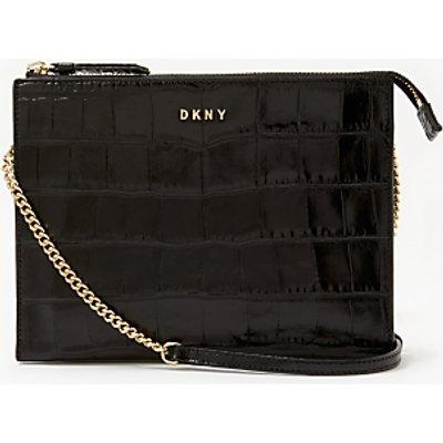 DKNY Sutton Croc Effect Leather Zip Across Body Bag