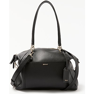 DKNY Chelsea Pebbled Leather Large Satchel, Black