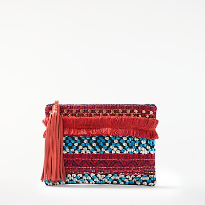 AND/OR Atala Embellished Clutch Bag, Multi