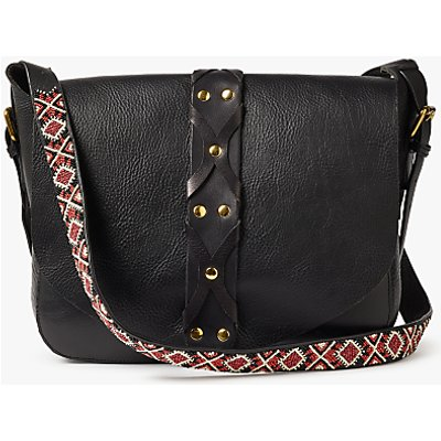 AND/OR Maya Guitar Strap Leather Across Body Bag, Black