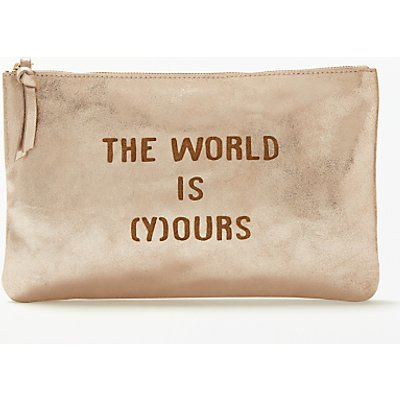 AND/OR Mila Slogans Leather Pouch Purse