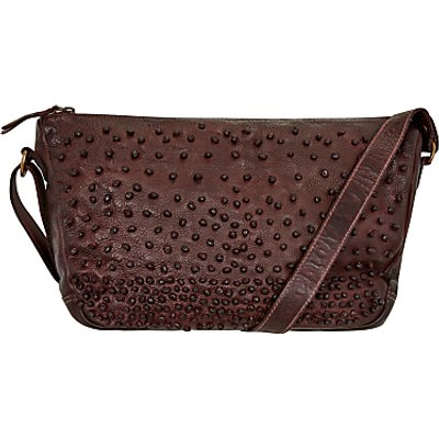 Unmade Petunia Studded Across Body Bag, Burgundy