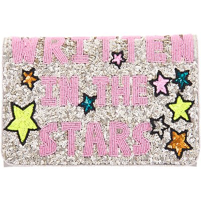 From St Xavier Written In The Stars Foldover Clutch, Multi
