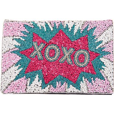 From St Xavier XOXO Foldover Clutch, Multi