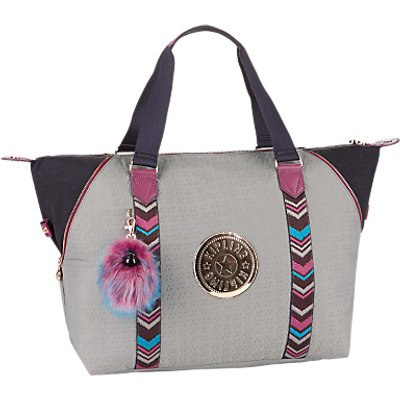 Kipling Art M Travel Tote Bag, Grey/Multi
