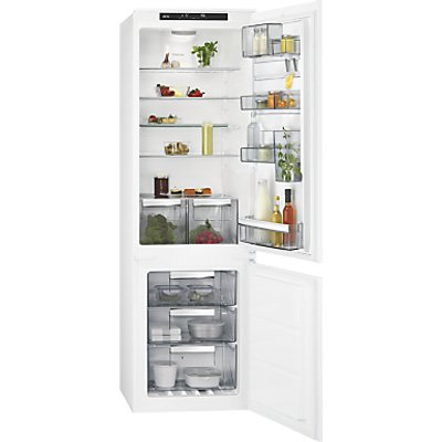 AEG SCE81824TS Integrated Fridge Freezer, A++ Energy Rating, 54cm Wide, White