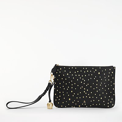 bell&fox Pebble Leather Embroidered Clutch