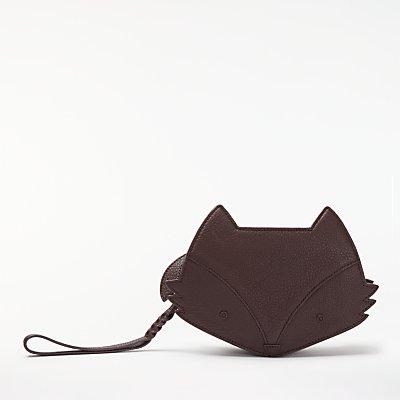 bell&fox Fox Pebbled Leather Cross Body Bag, Merlot