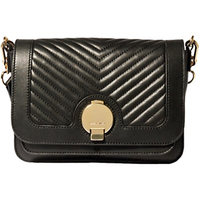 Karen Millen The Essentials Leather Disc Shoulder Bag