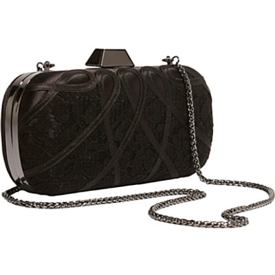 Karen Millen Satin And Lace Clutch Bag