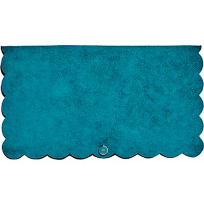 Karen Millen Suede Scalloped Clutch Bag, Teal