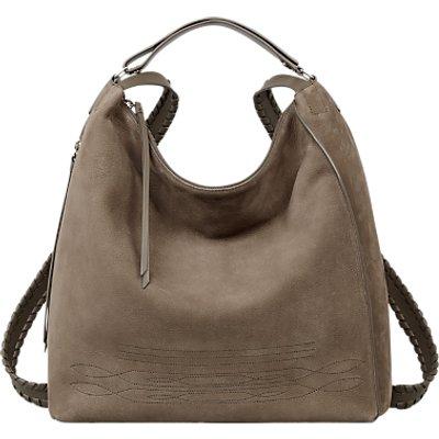 AllSaints Cooper Leather Backpack, Ash Grey