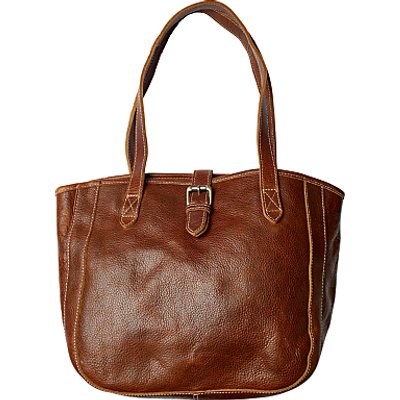 Fat Face Small Buckle Tote Bag, Chestnut