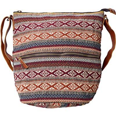 Fat Face Tia Woven Crossbody Bag, Multi