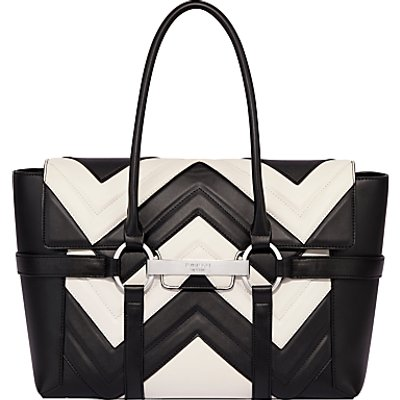 Fiorelli Barbican Large Flapover Patterned Tote Bag, Mono Stitch