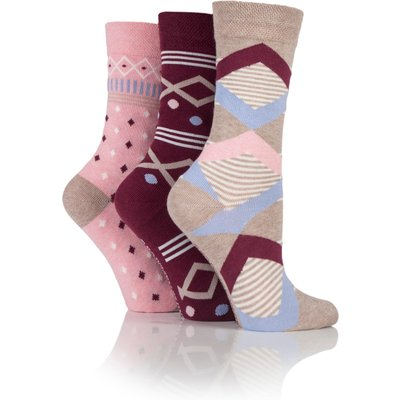 Jennifer Anderton Pack of 3 Mixed Pattern Socks