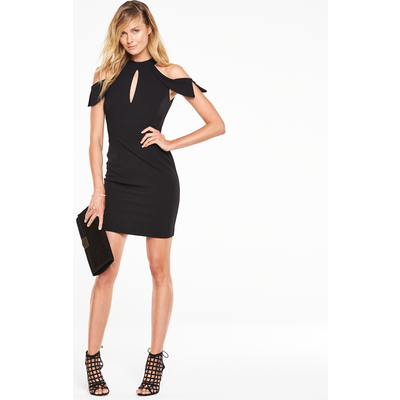 V By Very Cold Shoulder Midi Pencil Dress
