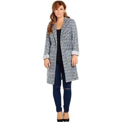 V By vey Lace Textured Coat