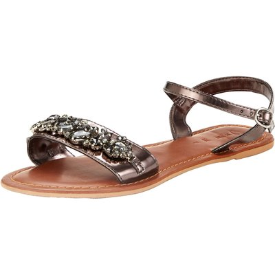 V by Very Dazzle Embellished Flat Sandals