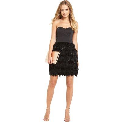 Lipsy Vip Feather Prom dress