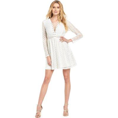V By Very Lace Up Dress