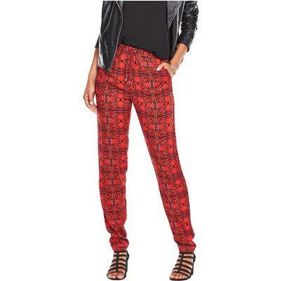 V By Very Tile Print Tapered Trousers