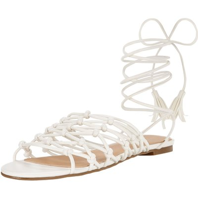 V by Very Bliss Knotted Tie Up The Leg Flat Sandals