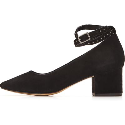 Office Mason Ankle Strap Block Heel Court Shoes