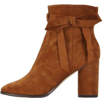 Miss Selfridge Alixe Suede Wrap Ankle Boots