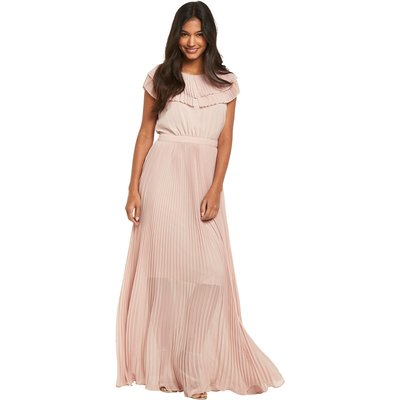 Warehouse Pleated Cape Detail Maxi Dress